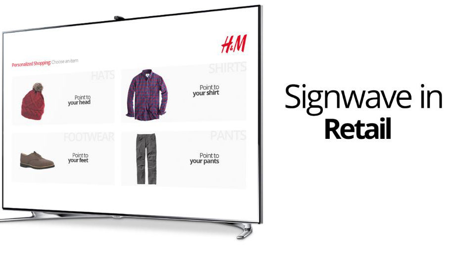 H&M signange, Signwave, digital signage of GlobeSoft Qatar